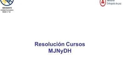 Resolución MJNyDH Cursos Homologados