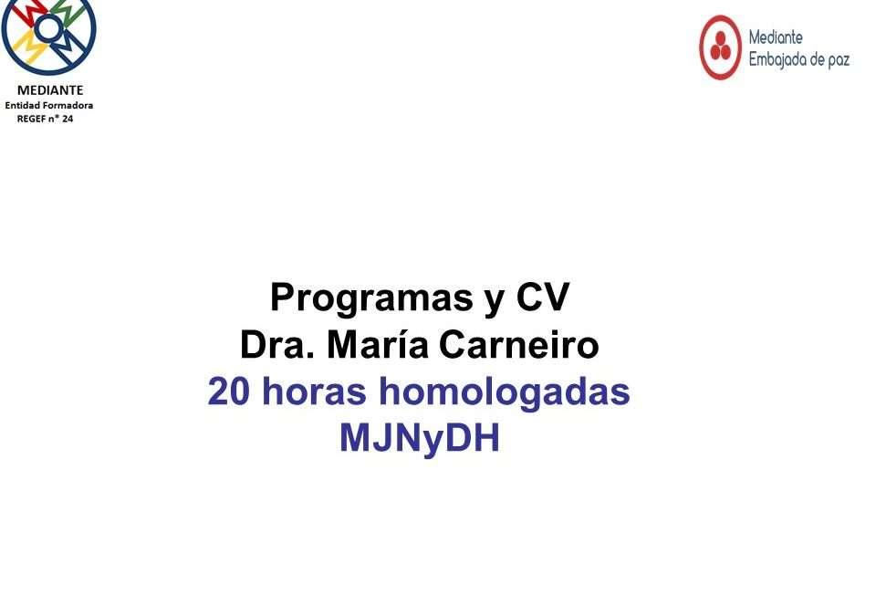 Programa y cv Dra. Maria Carneiro