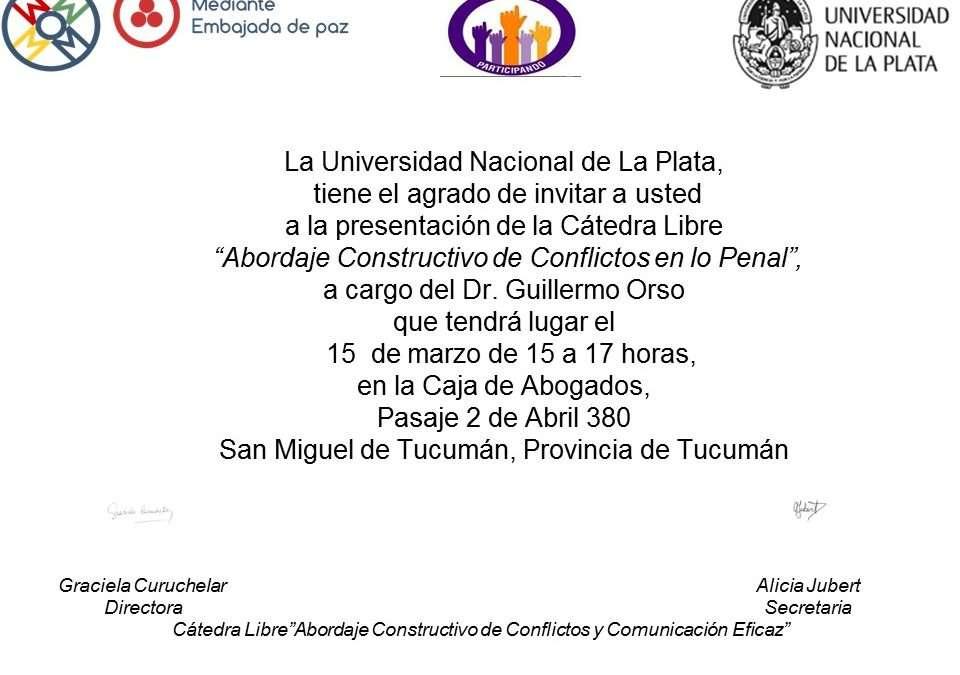Cátedra Libre de la UNLP en Tucumán