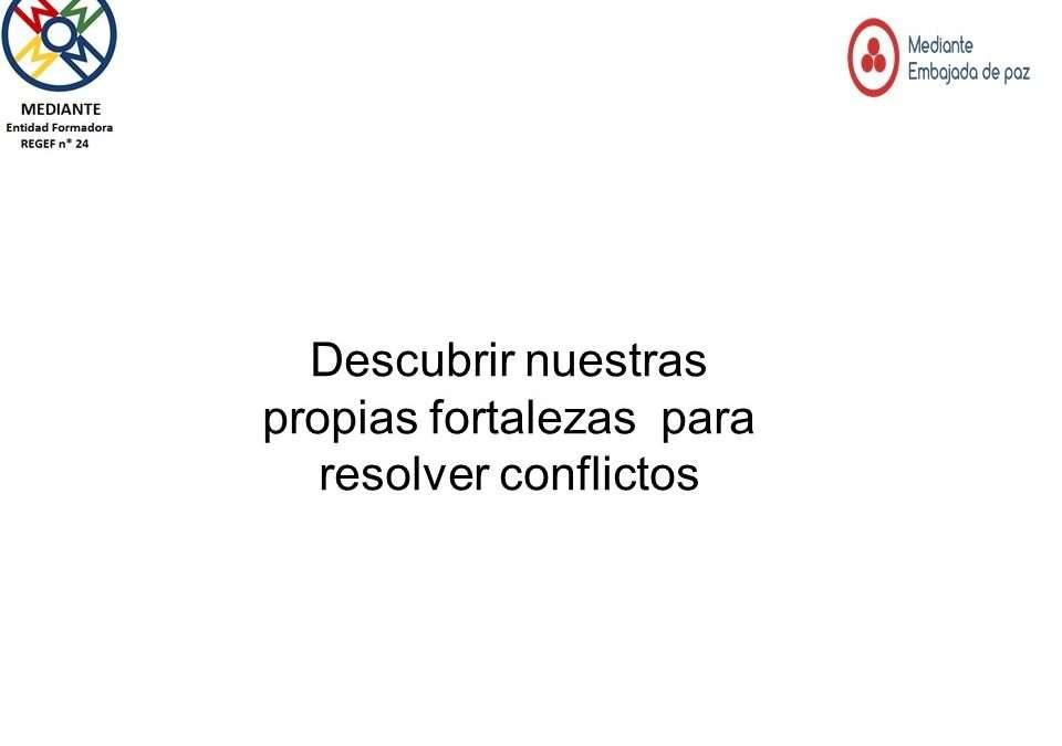Descubrir nuestras propias fortalezas para resolver conflictos