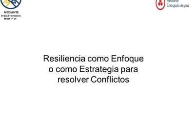 Resiliencia como enfoque o estrategia para resolver conflictos.