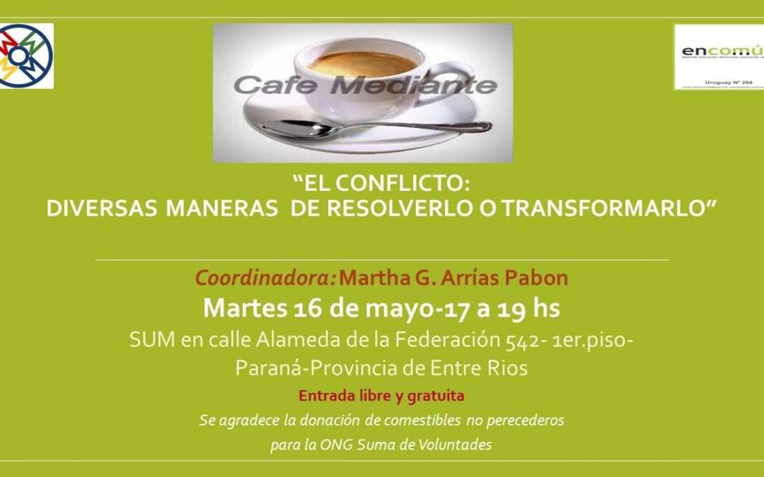 Café Mediante en Paraná, Provincia de Entre Ríos.
