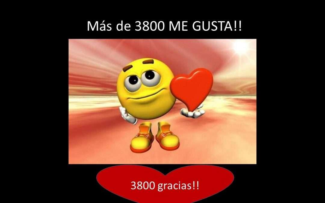 Más de 3800 Me Gusta en Facebook!