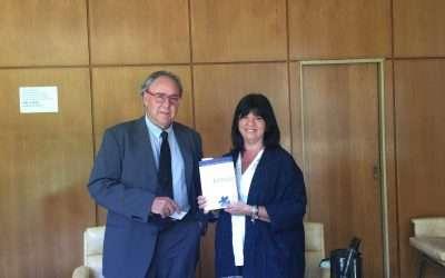 Dr. Pascual Ortuño en el Centro de Mediación del Colegio de Escribanos