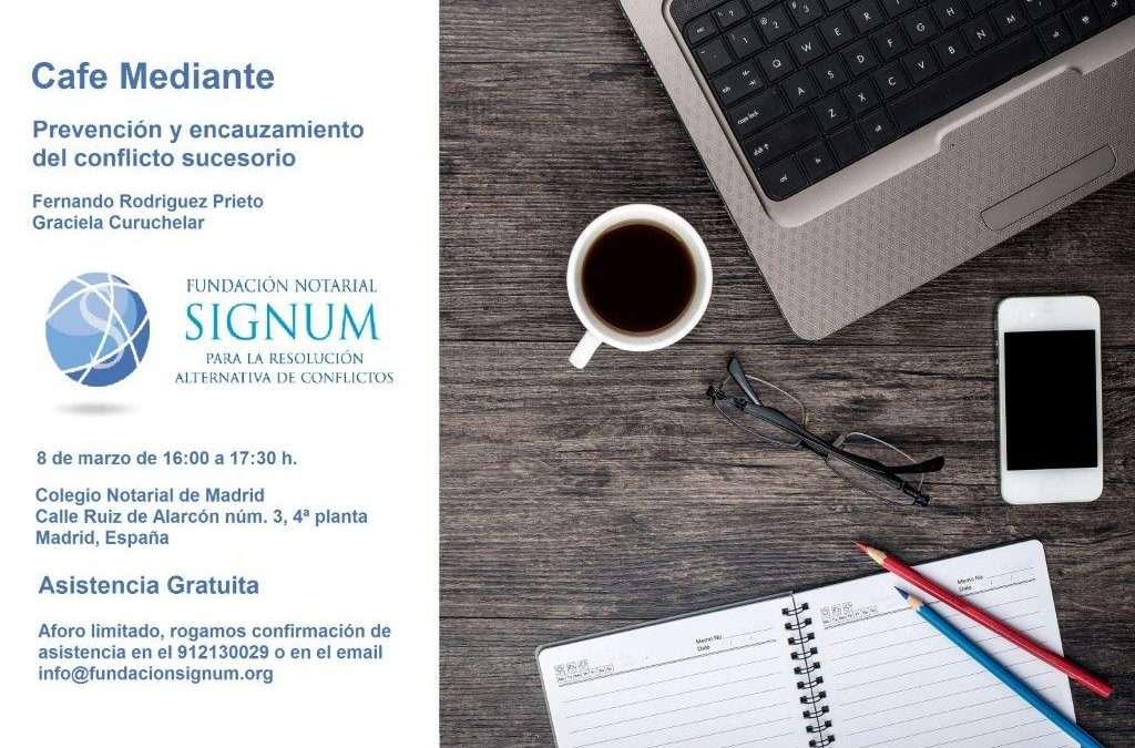 Cafe Mediante en SIGNUM, Colegio Notarial de Madrid, España