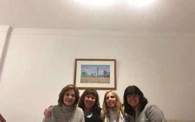 Mediadoras argentinas integrantes de Solucion@, en Málaga, España