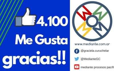 4100 Me Gusta en Facebook de Mediante! Gracias!
