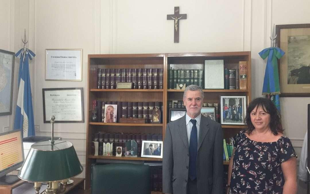 Visita institucional de Mediante, España, al Juzgado Notarial de la Provincia de Buenos Aires, Argentina