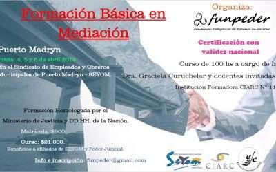 Formación Básica en Mediación en Puerto Madryn