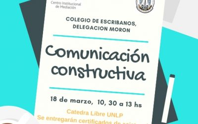 HOY!!Cátedra Libre de la UNLP en Morón