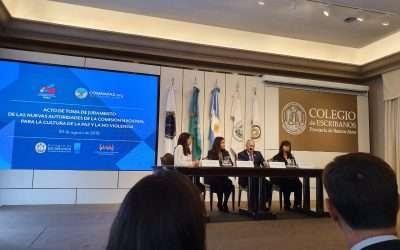 Juramento de las autoridades de COMNAPAZ Argentina