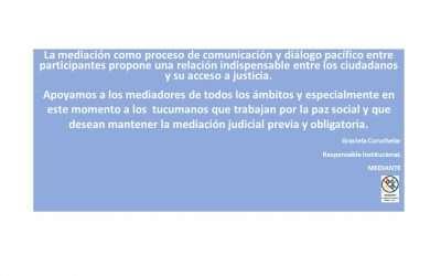 Apoyo de Mediante a la Mediación en Tucumán, Argentina