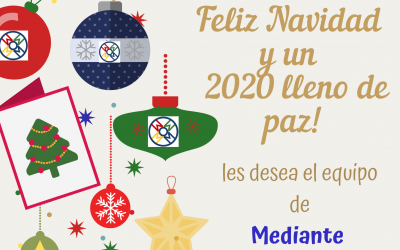 Muy Felices Fiestas!! Les deseamos todo el equipo de MEDIANTE!