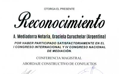 I Congreso Internacional de Mediación en Oaxaca, México