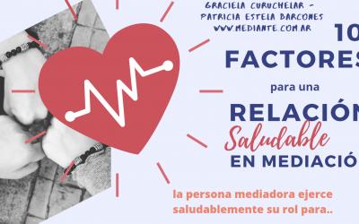 10 factores para una relación saludable en Mediación