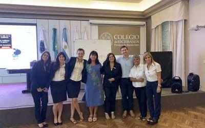 Curso intraorganizacional en el Colegio de Escribanos de la Provincia de Buenos Aires (antes de la cuarentena)