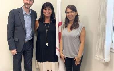 Visita de asesores de la Dirección de Mediación de la Municipalidad de La Plata(antes de la cuarentena)