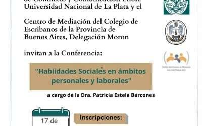Cátedra Libre: «Habilidades sociales en ámbitos personales y laborales», con Patricia Barcones