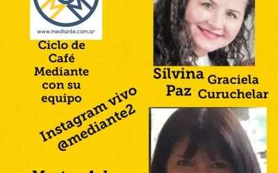 Cafe Mediante con su equipo! Silvina Paz, Justicia Restaurativa