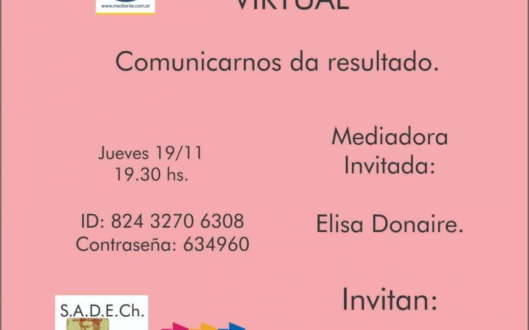 Cafe Mediante virtual en Chascomus, con entrada libre y gratuita