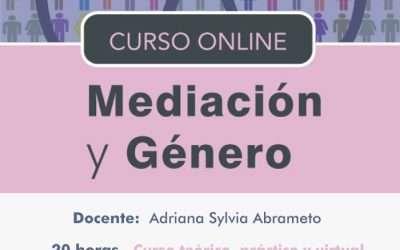 Mediacion y Genero, 20 hs homologadas por MJN