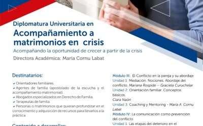 UCASAL, Diplomatura universitaria en Acompañamiento a matrimonios en crisis
